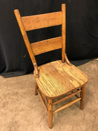 Oak Childs Ladder Back Chair