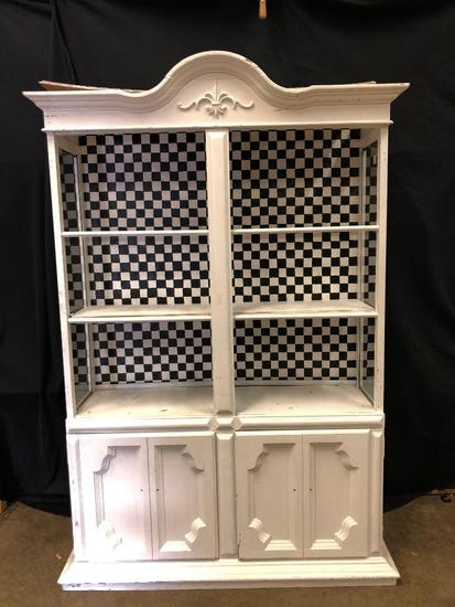 Painted Decorator/Display China Cabinet