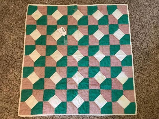 Hand Stitched Quilt Panel