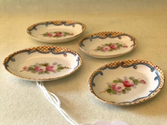 (4) Vintage Hand Painted Nippon Salt Dips