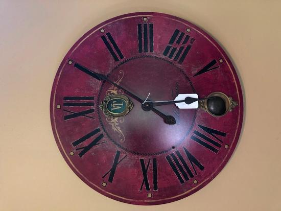 Decorator Wall Clock Is Battery Operated