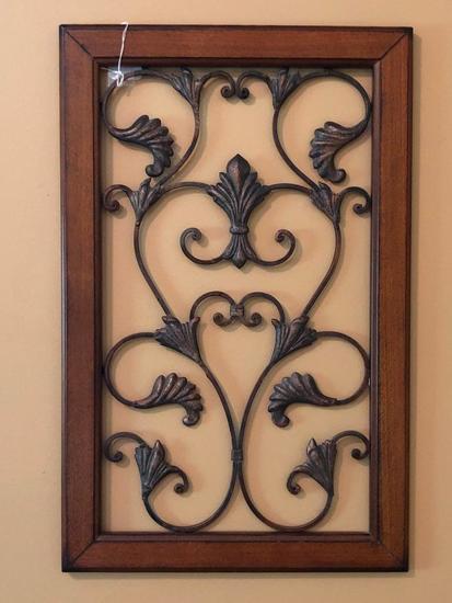 Metal & Wood Decorator Panel