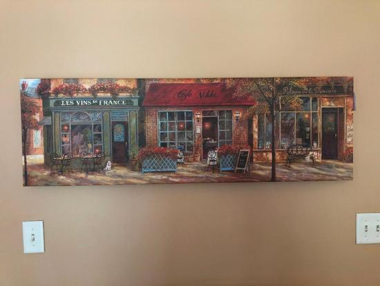 Print On Canvas Of Street Storefronts