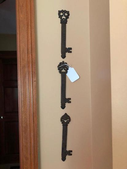 (3) Metal Decorator Keys