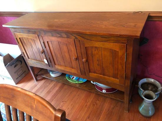 Oak Server (Matches Table, Chairs, & China In Previous Lots)