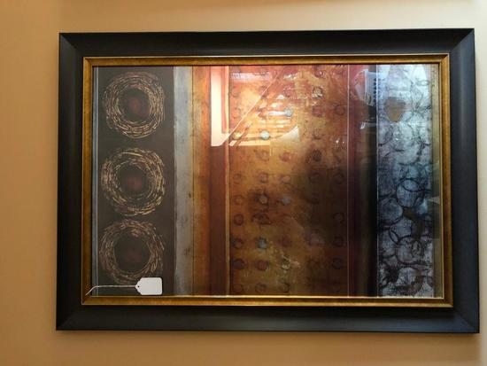 """Framed Abstract Decorator Print Signed """"D. Lizanetz"""""""