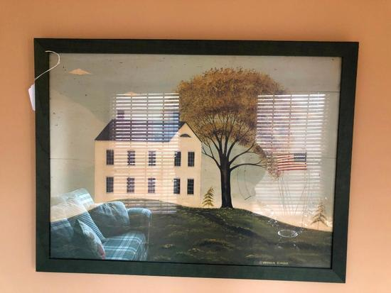 Primitive Country Home Print By Warren Kimble