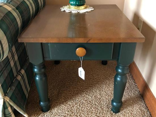 Wooden 1-Drawer Table