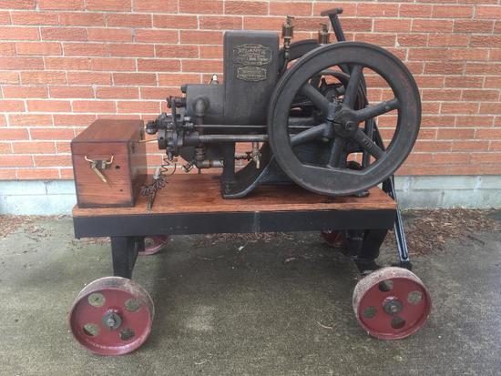 "Antique Engine ""Atlantic Diaphragm Pumping Engine"" By Harold L. Bond Company"""