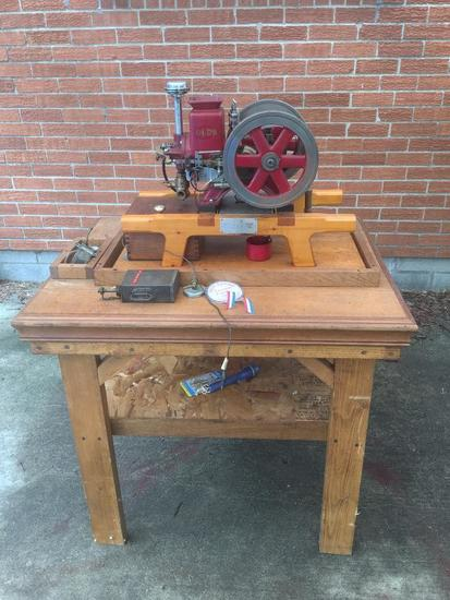 Olds Engine On Table By Seager Engine Works-Mini Hit/Miss Engine