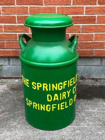 "Antique Milk Can ""Springfield Purity Dairy Company, Springfield, Ohio"""