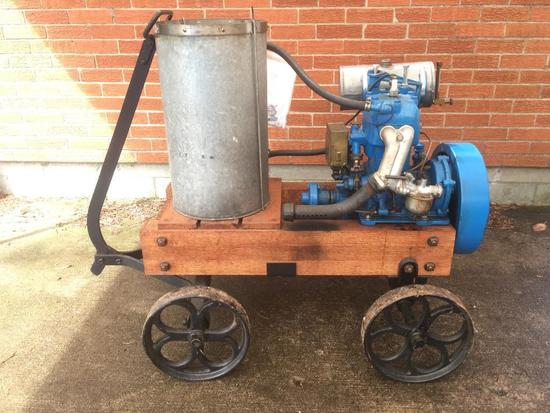 Dubrie Marine Motor From Detroit, Michigan On Cart
