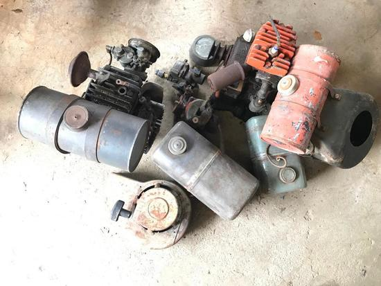 Group Vintage Small Gas Engines Parts and Pieces