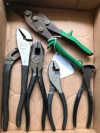 Group Of Pliers & Snips Incl. (3) Craftsman