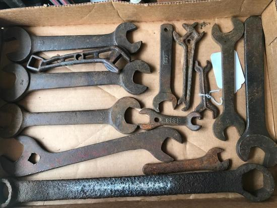 (12) Antique Farm/Implement Wrenches