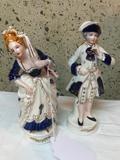 Moriyama, Occupied Japan, Victorian Style Figurines 7.5