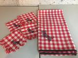 Scottie Dog, Child's Tablecloth and Four Napkins