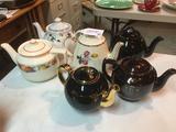 Group of Six Tea Pots