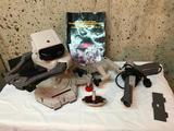 Original Nintendo Zapper light Gun, Duck Hunt, Robotic Operating Buddy, Gyromite and Cleaning Kit