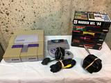 Super Nintendo Games System With 7 Games a Controller and Cords