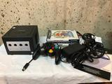 Nintendo Game Cube with Games, Cords and all shown