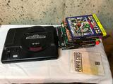Sega Genesis Game Console and Boxes for Games