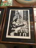 1989 Marvel Comics, Michael J Zeck Punisher Print, Planche 3, Frame Measures 16