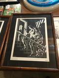1989 Marvel Comics, Michael J Zeck Punisher Print, Planche 5, Frame Measures 16