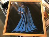 Decorative, Framed Batman on Glass
