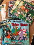 9 Vintage Walt Disney, See the Pictures, Hear the Record, Read the Books, Complete with Records