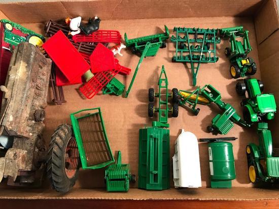 John Deere Diecast Miniatures + Other Misc. Toys