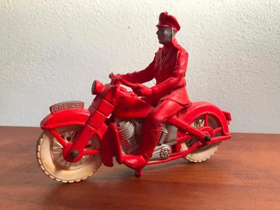 Vintage Auburn Motorcycle & Rider