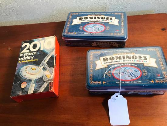 (2) Sets Of Unused Dominos & 2010 Space Oddity Puzzle