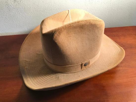 7 3/8th. Corduroy Cowboy Hat