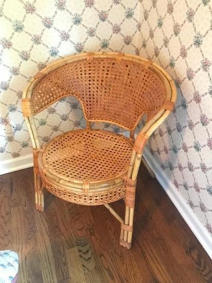 Cane & Bamboo Side Chair