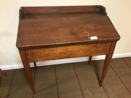 "Antique Walnut Writing Desk From ""The Martha Washington School For Girls"" In Abingdon, Virginia"