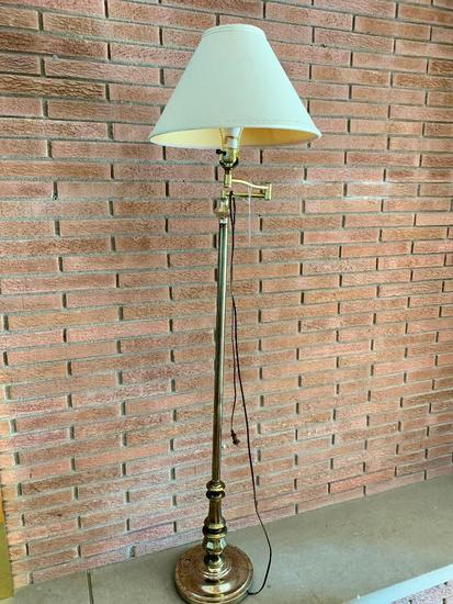 Bridge Floor Lamp W/Shade