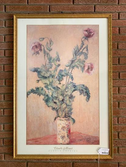 """""""Purple Poppies"""" Framed Print By Claude Monet"""