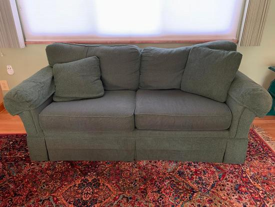 2-Cushion Couch W/Arm Covers