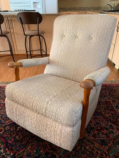 Vintage Upholstered Base Rocker