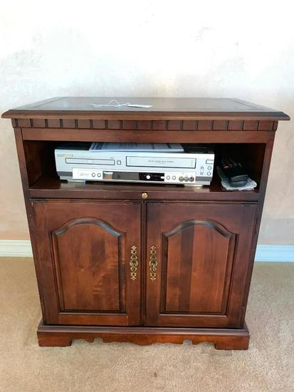 Rotating TV Stand W/Sylvania DVD/VHS Player (With Remote)