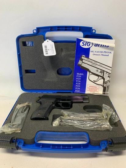 Sig Saur P226 Stainless Semi-Automatic Pistol W/3 Clips Shoots 9MM Para (In Original Case)
