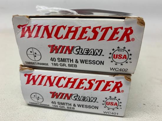 "(65) Rounds Winchester ""WinClean"" 40 Smith & Wesson Ammo"