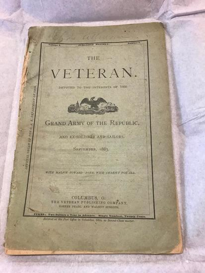 1883, The Veteran, Volume 4, Number 3, Magazine,