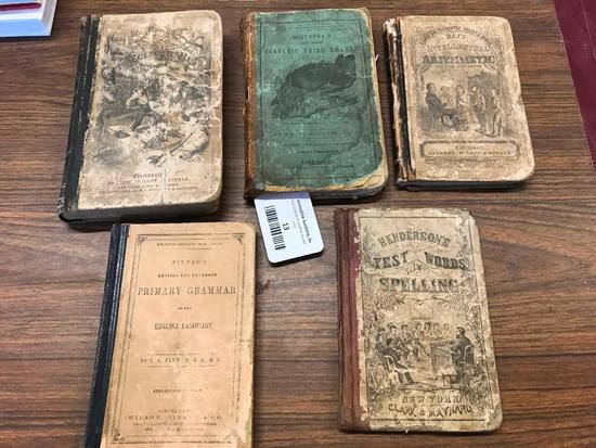 Group of 1800's School Books