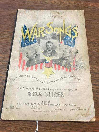 War Songs for Gatherings of Anniversaries and Gatherings of Soldiers Book