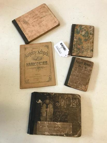 Group of Late 1800's Hymns Books