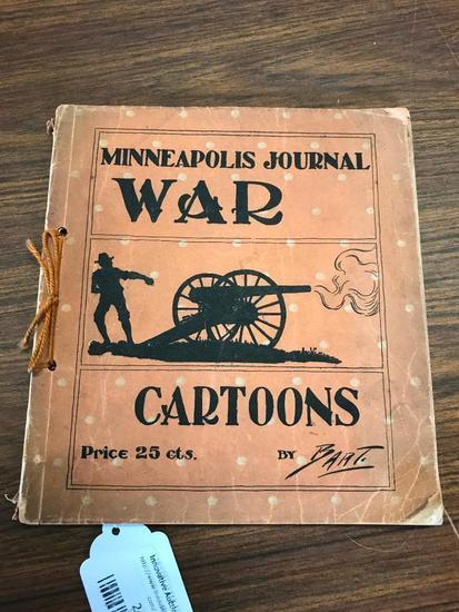 1899 Minneapolis Journal, War Cartoons by Bart on the Spanish American War