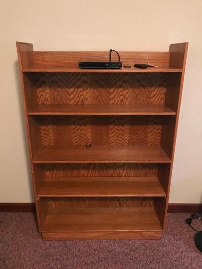 Oak 5-Shelf Bookcase