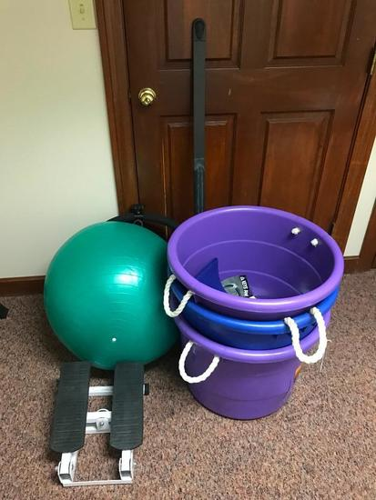 Exercise Ball, Tubs, & Misc. Exercise Items